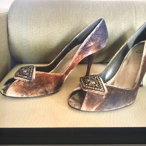 Stuart Weitzman Pump Shoes Open Toe w/Buckle 7.5